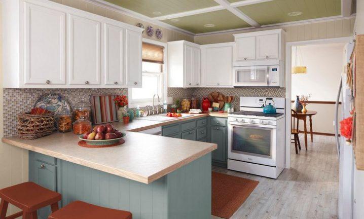 Идеи двухцветных шкафов для кухни 8 | Дока-Мастер