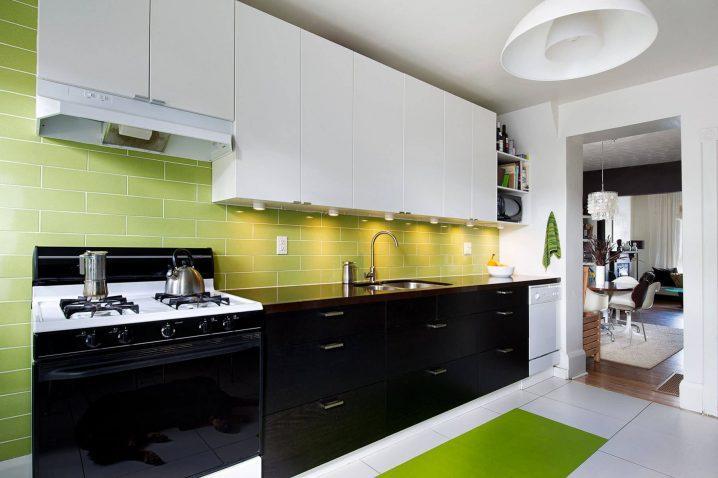 Идеи двухцветных шкафов для кухни 9 | Дока-Мастер