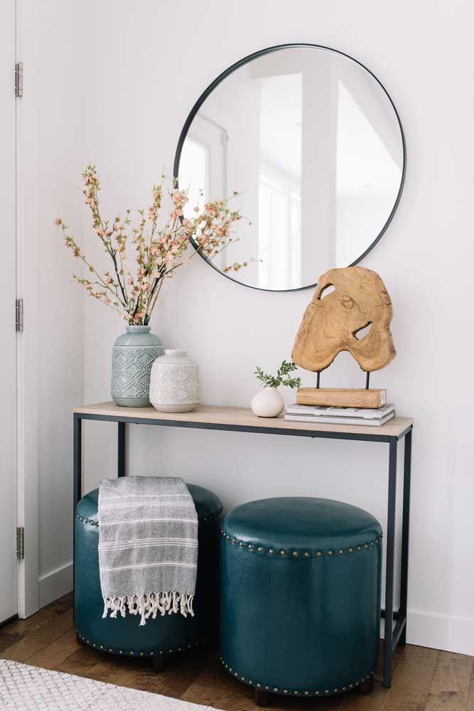 Круглое зеркало в интерьере, как использовать в декоре 01