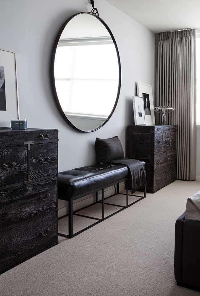 Круглое зеркало в интерьере, как использовать в декоре 11