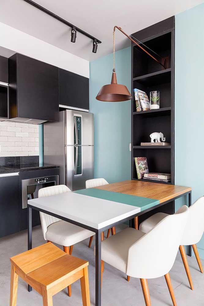 Стол у стены 30 идей для небольшой квартиры 12 | Дока-Мастер