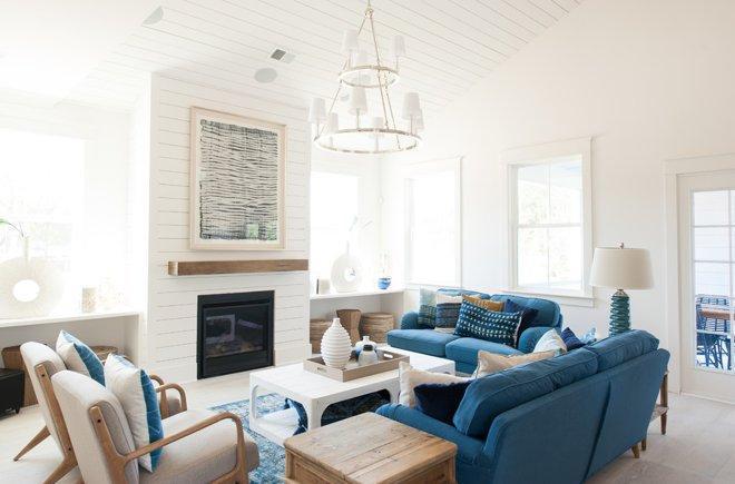 5 удобных гостиных, расположенных вокруг камина 2 | Дока-Мастер