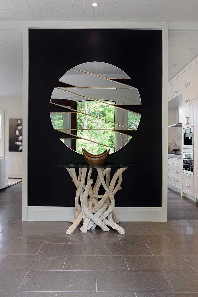 Круглое зеркало в интерьере, как использовать в декоре 26