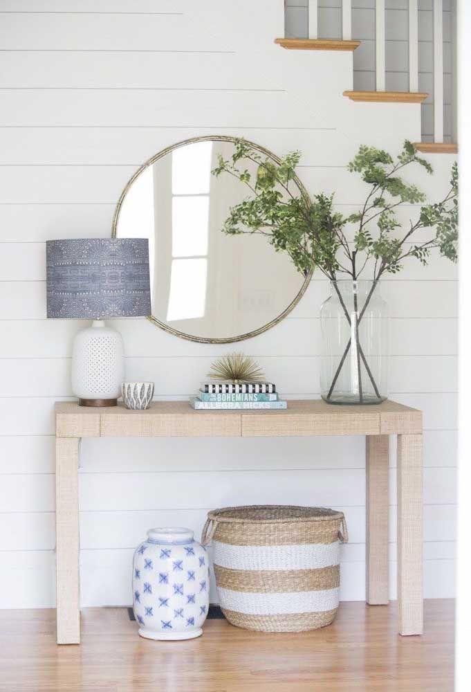 Круглое зеркало в интерьере, как использовать в декоре 06