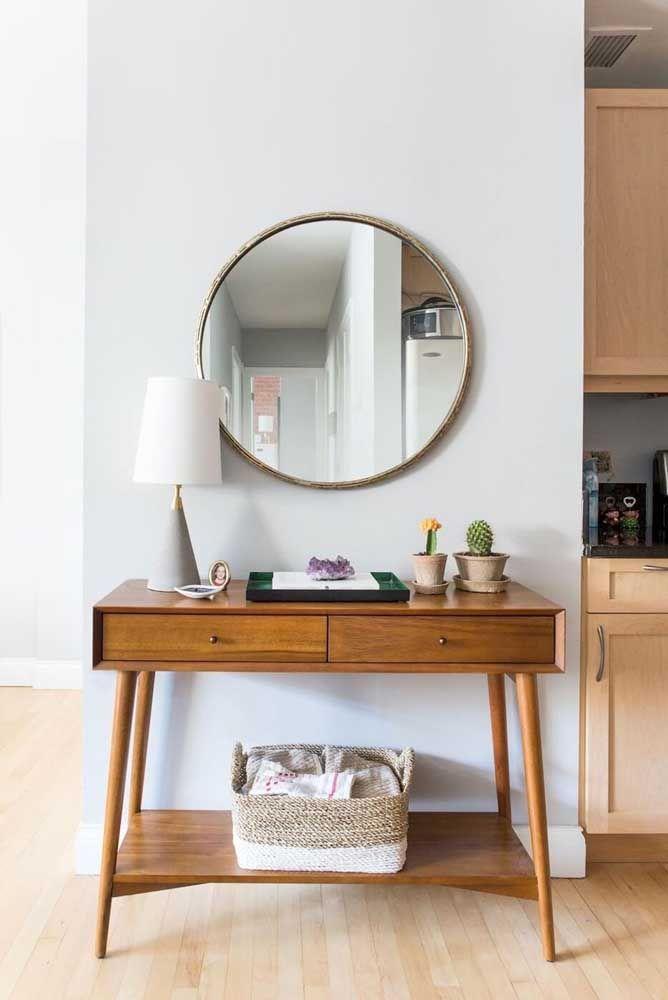 Круглое зеркало в интерьере, как использовать в декоре 08