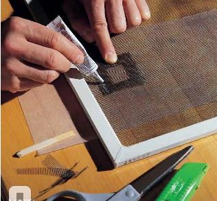 Как отремонтировать порвавшуюся москитную сетку 1 | Дока-Мастер