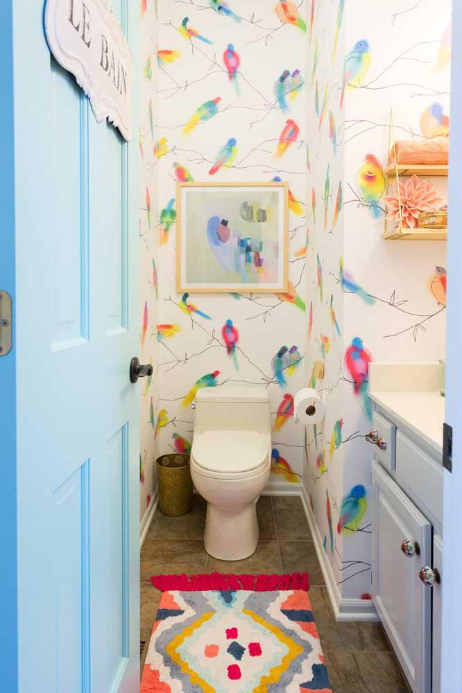 60 идей обоев в туалет 13   Дока-Мастер