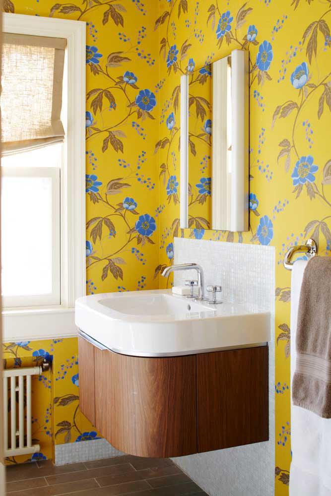 60 идей обоев в туалет 14   Дока-Мастер