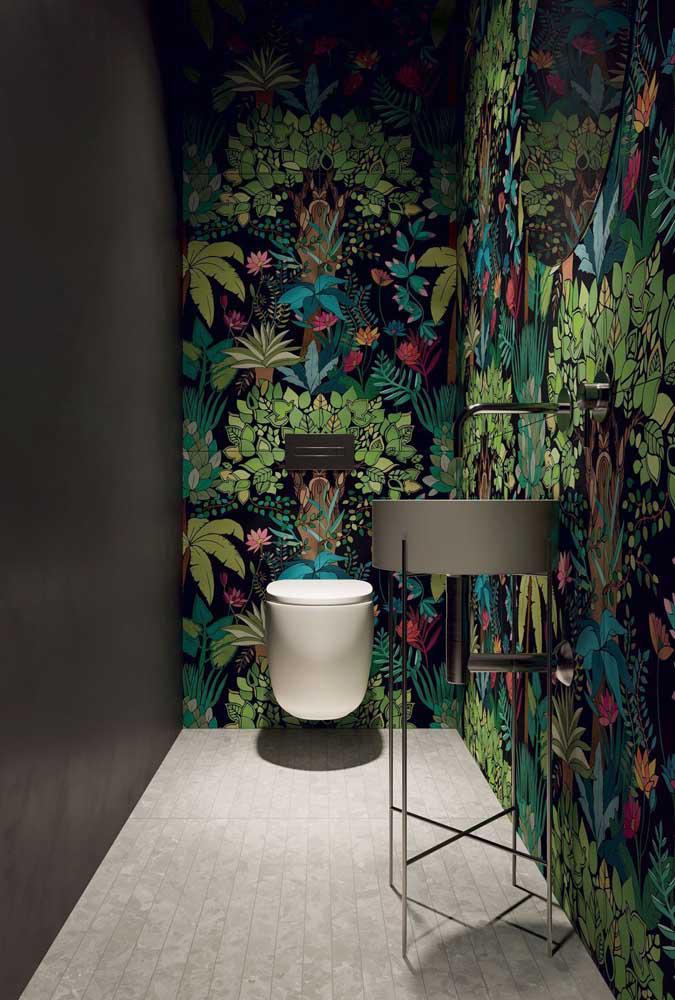 60 идей обоев в туалет 15   Дока-Мастер