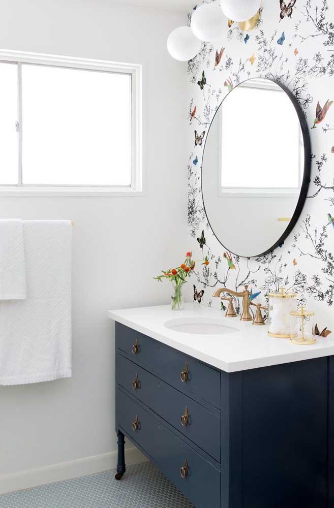 60 идей обоев в туалет 18   Дока-Мастер