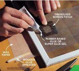 Как отремонтировать порвавшуюся москитную сетку 3 | Дока-Мастер