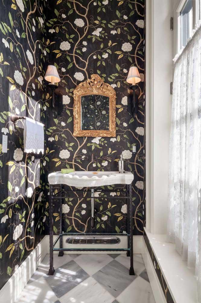 60 идей обоев в туалет 30   Дока-Мастер