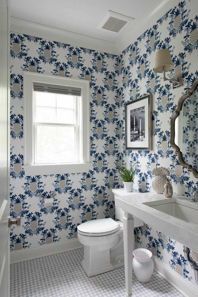 60 идей обоев в туалет 32   Дока-Мастер
