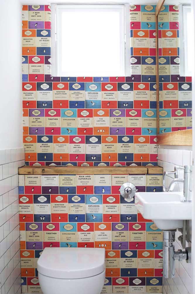 60 идей обоев в туалет 36   Дока-Мастер