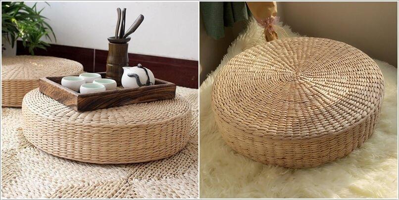 Как украсить дом плетеными пуфиками 4 | Дока-Мастер