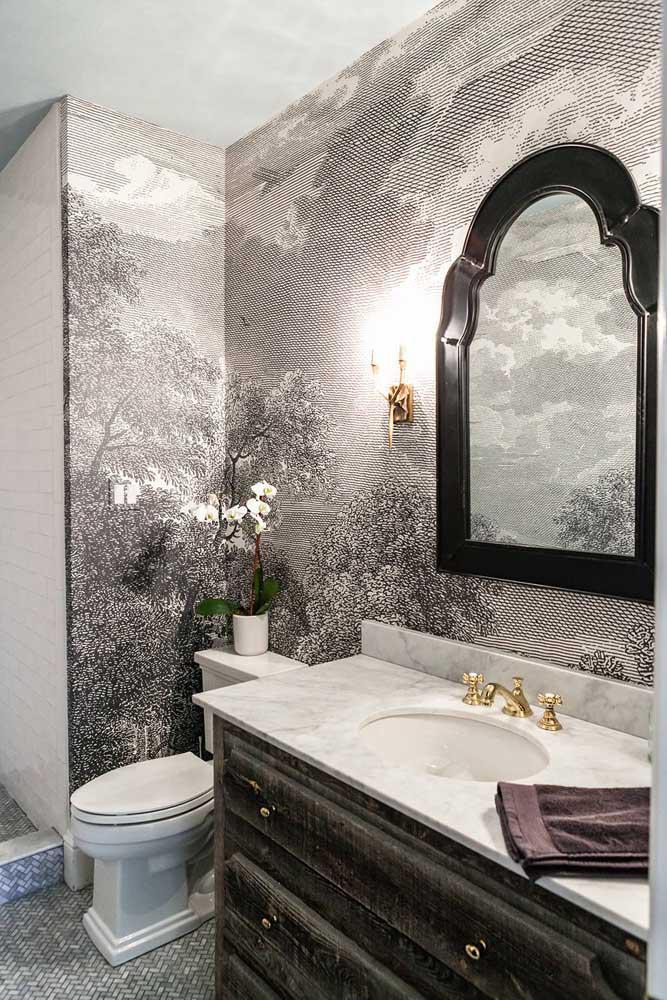 60 идей обоев в туалет 43   Дока-Мастер