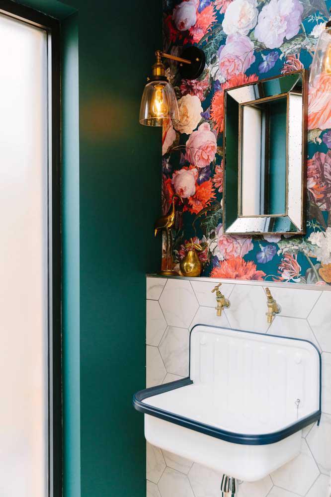 60 идей обоев в туалет 48   Дока-Мастер