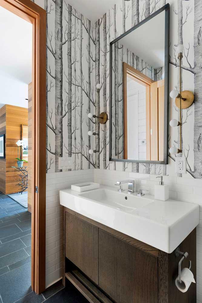 60 идей обоев в туалет 49   Дока-Мастер