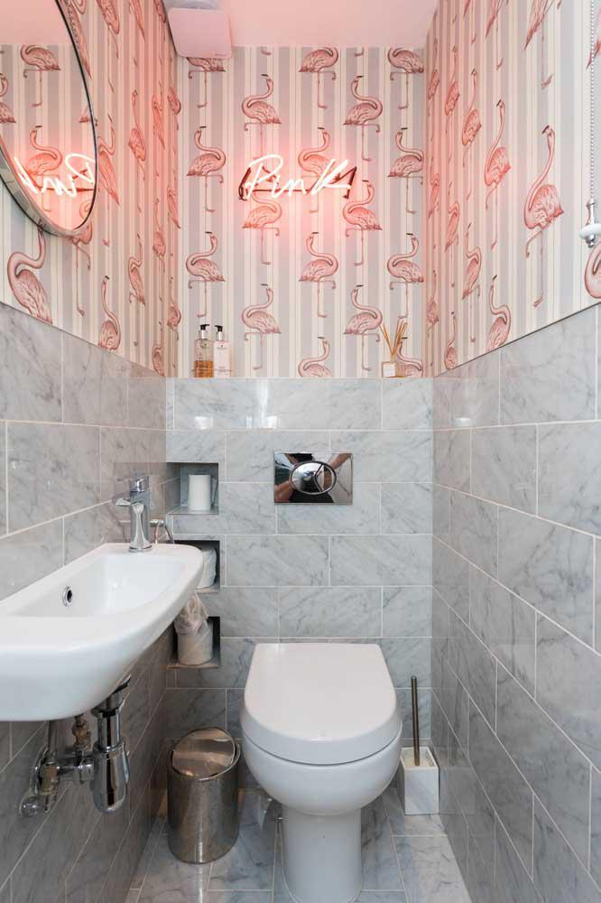 60 идей обоев в туалет 52   Дока-Мастер