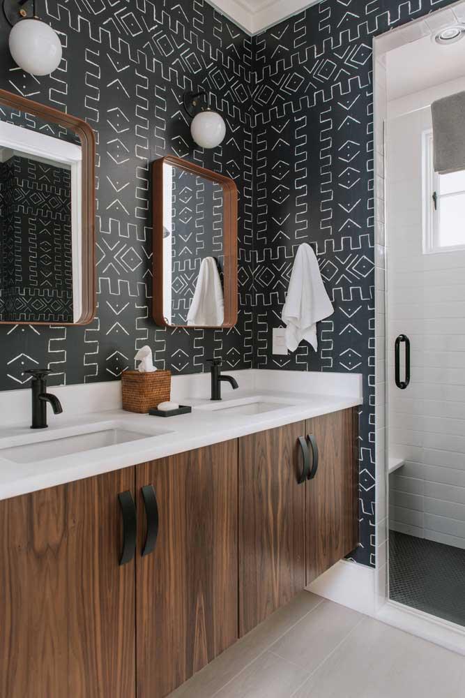 60 идей обоев в туалет 55   Дока-Мастер