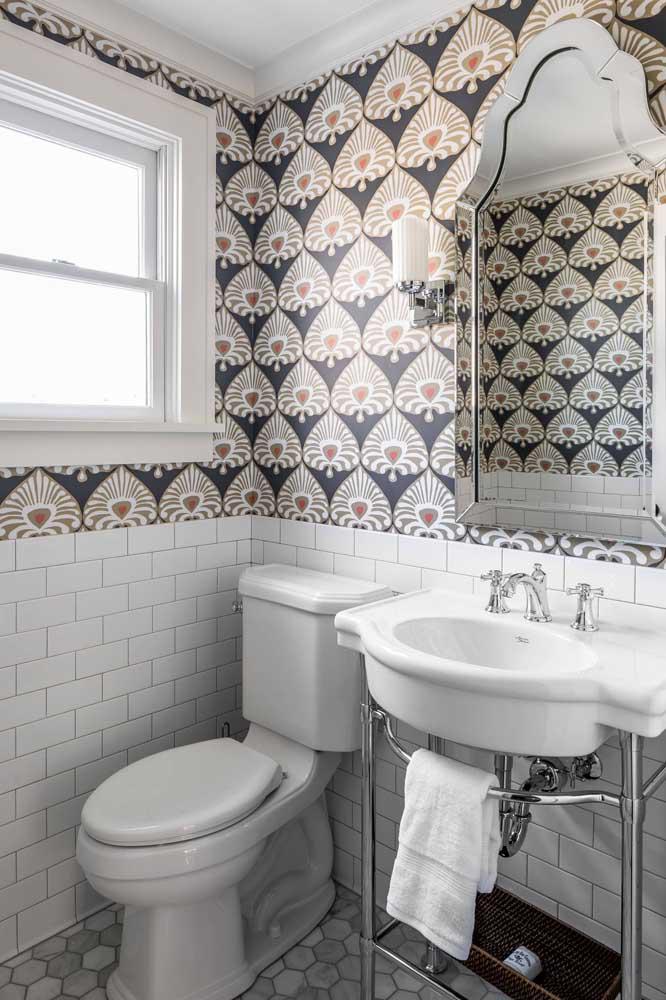 60 идей обоев в туалет 57   Дока-Мастер