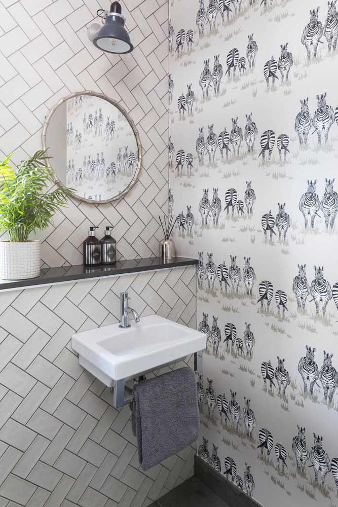 60 идей обоев в туалет 59   Дока-Мастер