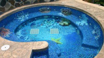 Панно из мозаики в бассейне 8 | Дока-Мастер