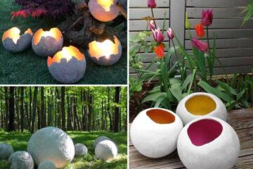 Как оригинально украсить сад с помощью шаров из бетона 10   Дока-Мастер